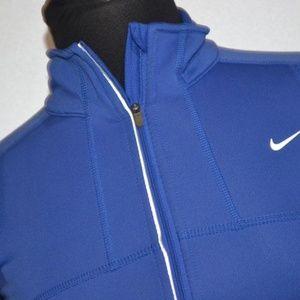 9412 Womens Nike Athletic Jacket Running Blue XS